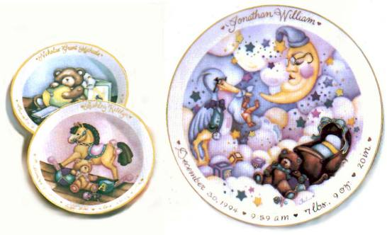 Personalized Children's Plates - Painted by Julia Hillman