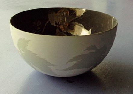 Bowl painted by Marcela Mendoza
