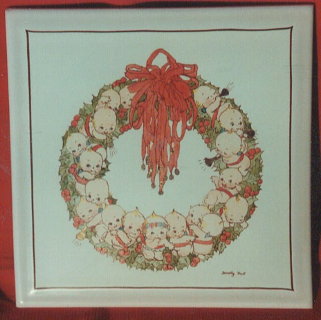 Kewpies Wreath Painted by Dorothy Trent