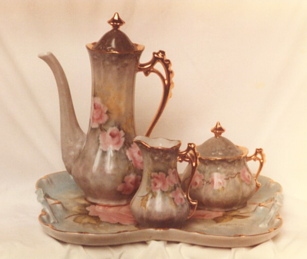 Tea Set Painted by Jim Pence