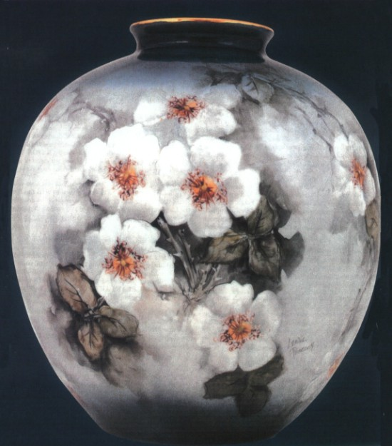 Vase Painted by Leslie Peacock
