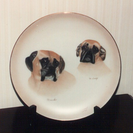 Plate Painted by Lorraine Treadwell