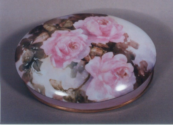 Painted Rose Box by Maureen Brodsky