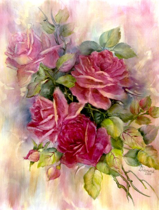 Roses Painted by Dianne Moore